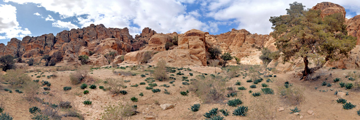 Litttle Petra Canyon Trail - The Rock Formation Near the End of the Trail - Hiking in Jordan